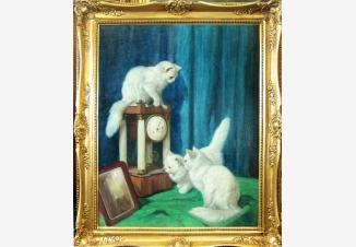 Три любопытных кошки
